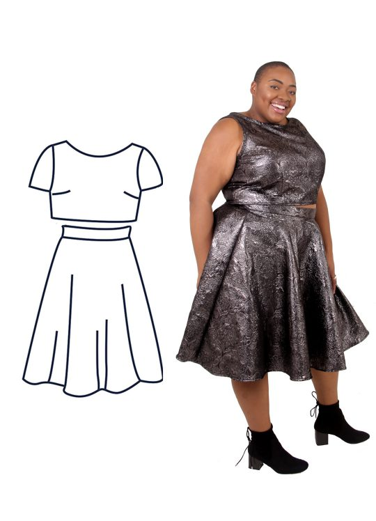 Design your own: Circle Skirt Two-Piece