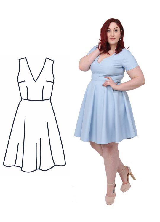 Design your own: V-Neck Skater Dress