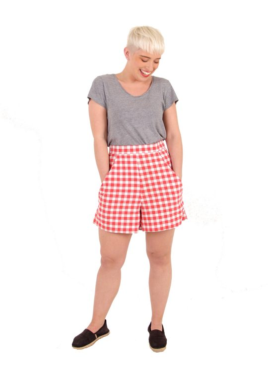 Red Gingham Shorts - 'Picnic' - UK 12-14