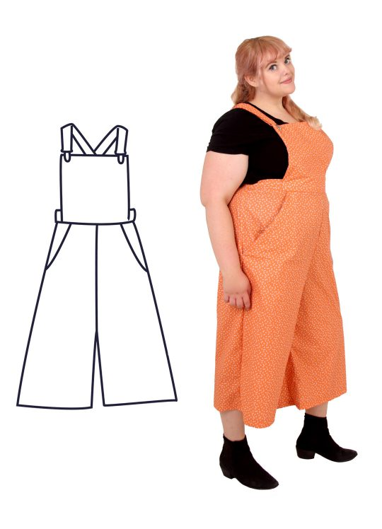 Design your own: Dungaree-Culottes