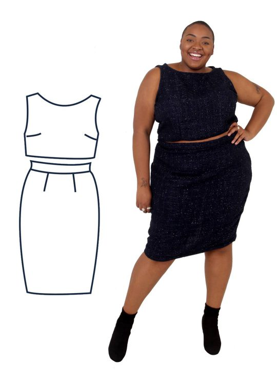 Design your own: Pencil Skirt Two-Piece