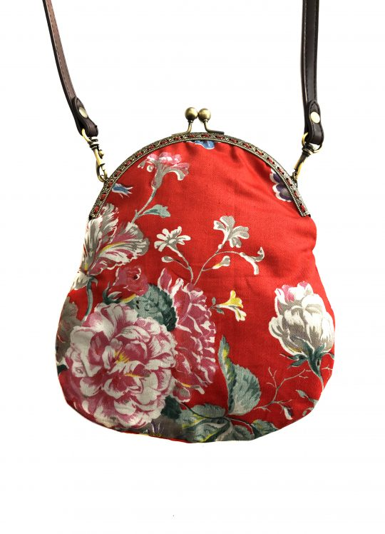 'Butterflies + Blooms' Red Handbag