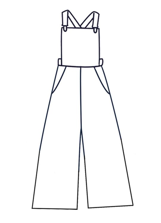 Design your own: Wide Leg Dungarees