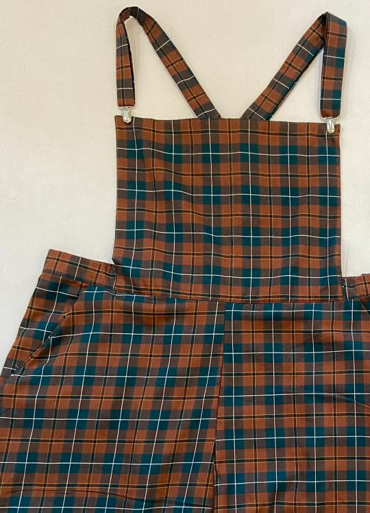 Plaid Dungarees - UK 22-24