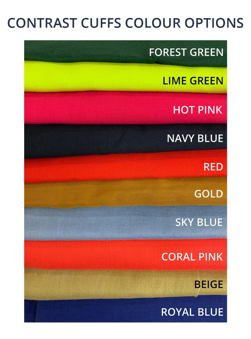 Contrast cuffs colour options - Design your own dungarees